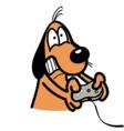 xbox addicted dog vector image
