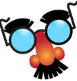 Glasses and nose mask vector image
