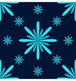 Turquoise Flowers Seamless Pattern vector image