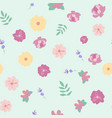 abstract flower seamless pattern background eps10 vector image vector image