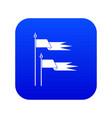 ancient battle flags icon digital blue
