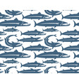 barracuda fish seamless pattern for your design vector image