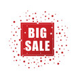 big sale in red color icon vector image vector image