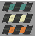Black origami paper numbered banners vector | Price: 1 Credit (USD $1)