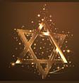brown star of david glass jewish symbol abstract vector image
