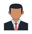 businessman profile avatar vector image vector image