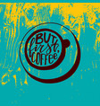 but first coffee lettering hand-written words in vector image vector image