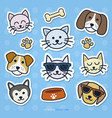cat and dog sticker set vector image vector image