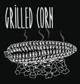 chalkboard grilled corn ears fruit vector image