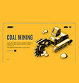coal mining company isometric website vector image