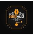 coffee bean vintage label background vector image vector image