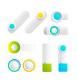 colorful toggles and buttons collection vector image
