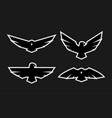eagle a set monochrome logos vector image