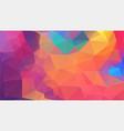 flat multicolor triangle geometric wallpaper vector image vector image