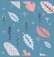 flowers and leaves in spring pastel colors vector image vector image