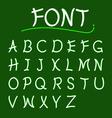 font abcs modern design vector image