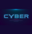 futuristic cyberpunk hologram font modern english vector image vector image