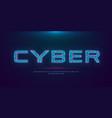 futuristic cyberpunk hologram font modern english vector image