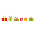 gifts on christmas present box for holiday icons vector image