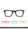 glasses icons images vector image