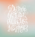 Handdrawn Lettering vector image