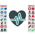 Heart Diagram Icon vector image vector image