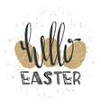 hello easter lettering modern calligraphy style vector image vector image