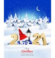 holiday christmas winter background with a vector image vector image