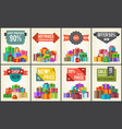 hot prices sale discounts promo labels percent off vector image