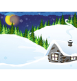 House in the forest vector image vector image