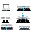 Icons set Leader in the team vector image vector image