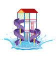 isolated slide at water park vector image vector image