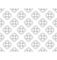 line floral pattern seamless background vector image vector image