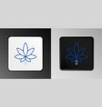 line medical marijuana or cannabis leaf icon vector image vector image