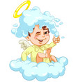 little baby angel with foam vector image vector image
