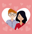 love and people cartoons vector image