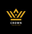 modern golden crown logo template vector image vector image