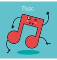 music note character kawaii style vector image