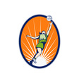 netball player reboundng jumping for ball vector image vector image