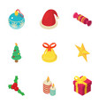 noel icons set isometric style vector image vector image