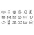 online multi-factor authentication icons set