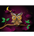 owl with moon vector image vector image