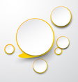Paper white-yellow round speech bubbles vector image