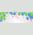 party balloons blue and green vector image