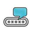 password login isolated icon vector image