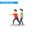 people walking character flat design vector image