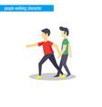 people walking character flat design vector image vector image