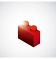 Piece of lego icon Game design graphic vector image