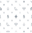 religion icons pattern seamless white background vector image vector image
