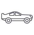 retro racing car line icon sig vector image vector image